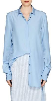 Jil Sander Women's Francesca Silk Blouse - Blue
