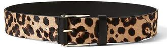 Haircalf Leather Wide Covered-Roller Waist Belt $68 thestylecure.com