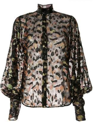 Petar Petrov Bowie sheer jacquard blouse