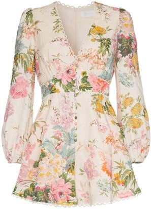 Zimmermann Heathers floral print playsuit