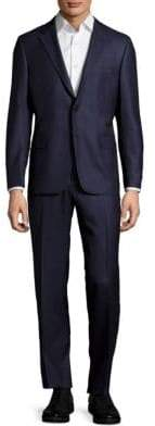 Hickey Freeman Regular-Fit Solid Wool Suit