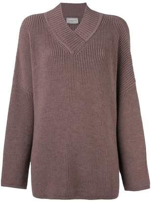 Lanvin oversize v-neck jumper