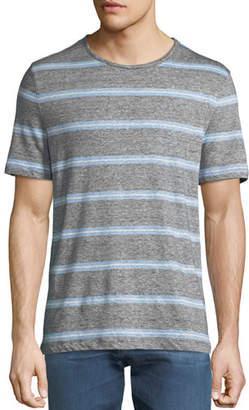 Michael Kors Men's Striped Linen-Blend T-Shirt