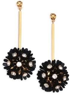 Lele Sadoughi Confetti Plumeria Gold Plated Drop Earrings