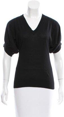 Derek Lam Short Sleeve V-Neck Sweater $125 thestylecure.com