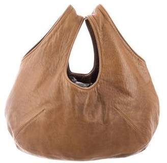 Marni Distressed Leather Hobo Olive Distressed Leather Hobo