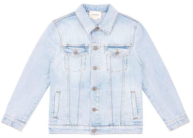 Embellished Reverse Denim Jacket