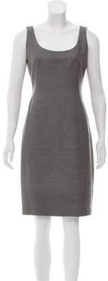 Akris Punto Striped Scoop Neck Dress