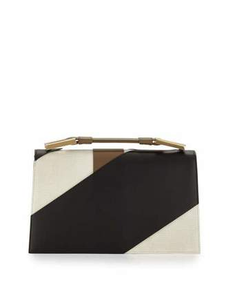 Jason Wu Charlotte Origami Canvas & Leather Evening Clutch Bag, Natural/Black $3,495 thestylecure.com