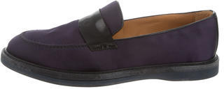 Paul Smith Round-Toe Satin Loafers $95 thestylecure.com