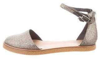 Loeffler Randall Glitter Round-Toe Sandals