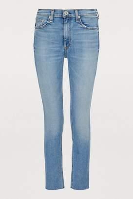 Rag & Bone High-waisted skinny cropped jeans