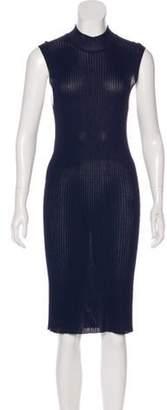 Calvin Klein Collection Short Sleeve Midi Dress blue Short Sleeve Midi Dress