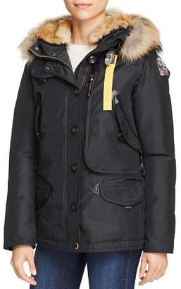 Parajumpers Doris Mixed Fur Trim Down Coat