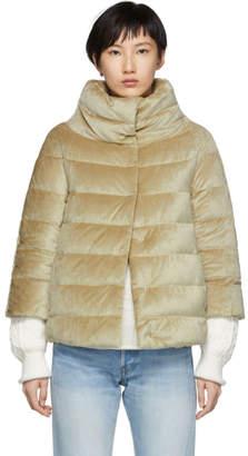 Herno Gold Down Three-Quarter Sleeve Jacket