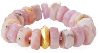 Devon Leigh 18k Rondelle Stretch Bracelet, Pink