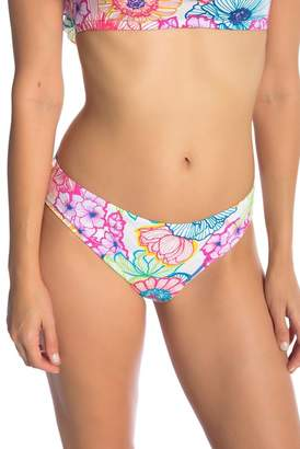 BLEU by Rod Beattle Floral Ruched Back Bikini Bottom