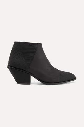 Giuseppe Zanotti Guns Embellished Croc-effect Leather Ankle Boots - Black