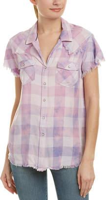 Jachs GF Girlfriend Frayed Shirt