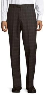 John Varvatos Astor Luxe Checked Wool Dress Pants