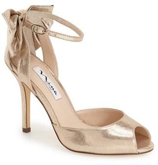 Women's Nina 'Mileena' Bow Back Sandal $98.95 thestylecure.com