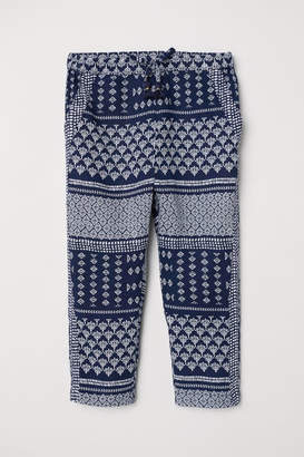 H&M Patterned Pull-on Pants - Blue