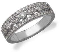 Lord & Taylor Diamond 14K White Gold Ring