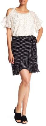 Max Studio Polka Dot Wrap Skirt