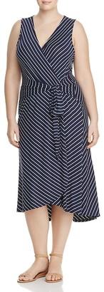 B Collection by Bobeau Curvy Rowan Stripe Wrap Dress $92 thestylecure.com