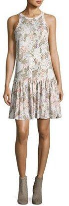 Rebecca Taylor Penelope Floral-Print Jersey Tank Dress, Multicolor $295 thestylecure.com