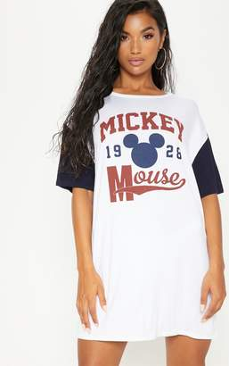 PrettyLittleThing White Mickey Mouse Print Nightie