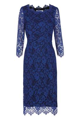 Libelula Longer Florence Dress Bright Blue Lace