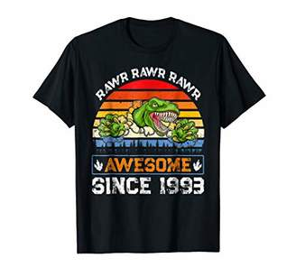 25th Birthday Gifts Dinosaur 1993 TShirt 25 Years Old Outfit