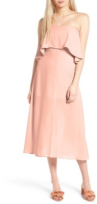 Women's Charles Henry Strapless Popover Midi Dress $99 thestylecure.com