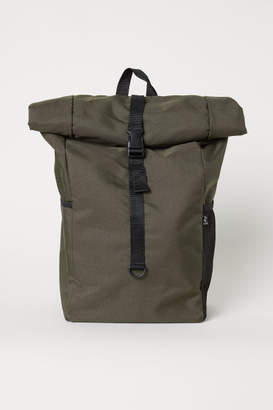 H&M Backpack with Roll-top Opening - Green