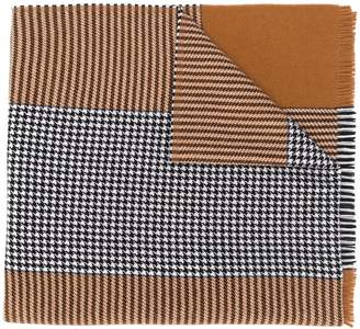 Altea contrast houndstooth knit scarf