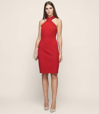 Reiss Zaira Wrap Neck Cocktail Dress