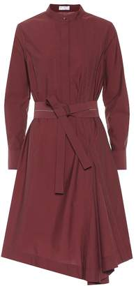 Brunello Cucinelli Cotton-blend shirt dress