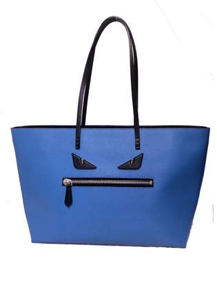 55f4c9da7c94 Fendi Roll Bag Blue Leather Handbag