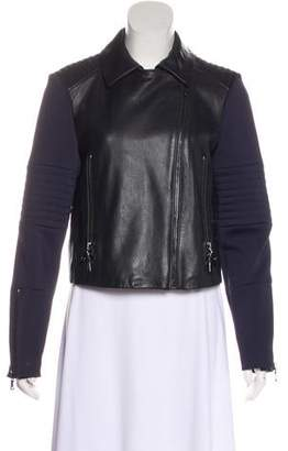 J Brand Zip-Up Leather Jacket