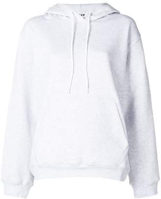 MSGM oversized logo print hoodie