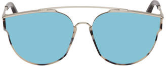 Gentle Monster Silver and Tortoiseshell Loe Sunglasses