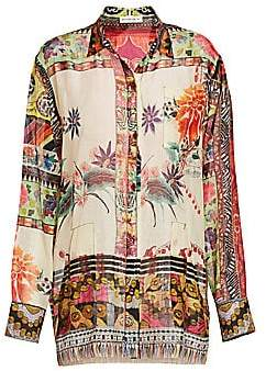 Etro Women's Floral Mosaic Tunic Blouse