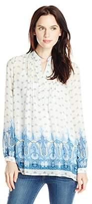 Blu Pepper Women's Border Print Tunic Top