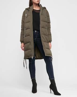 Express Long Zip Puffer Coat