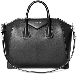 Givenchy 'Medium Antigona' Sugar Leather Satchel - Black $2,435 thestylecure.com