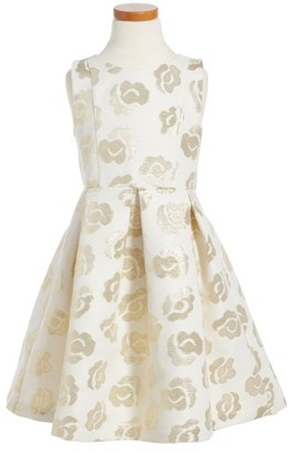 Toddler Girl's Ruby & Bloom Metallic Bow Dress $55 thestylecure.com