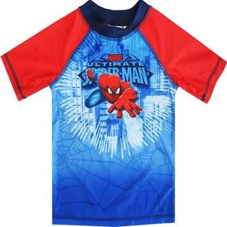 Spiderman marvels Little Toddler Boys Character Swimwear Rashguard Top