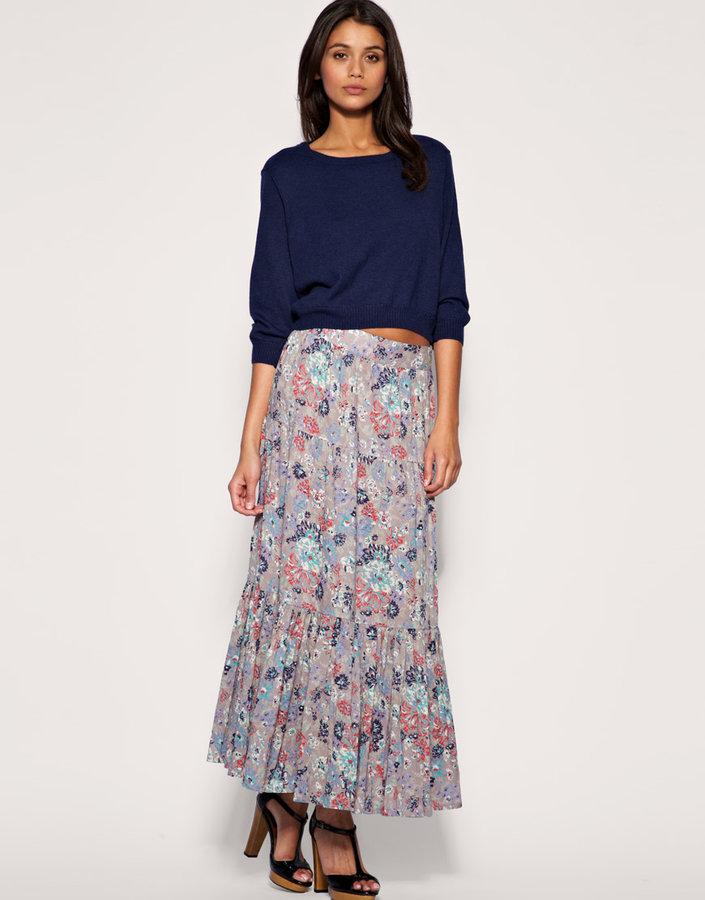 Warehouse Maxi Paisley Skirt