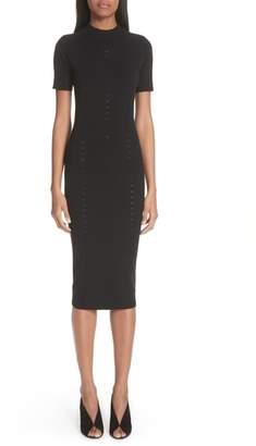Versace Knit Detail Body-Con Dress